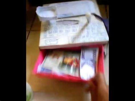 Kasir Mini Mini Register kasir kasiran dari kardus mini