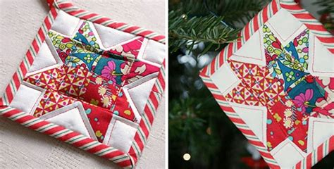 Patchwork Tree Decorations - dress your tree with patchwork decorations