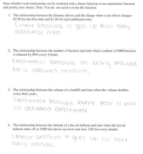 Comparing Linear And Exponential Functions Worksheet by Uncategorized Comparing Linear And Exponential Functions