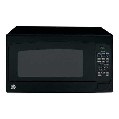 microwave store shop ge 2 cu ft 1 200 watt countertop microwave black at