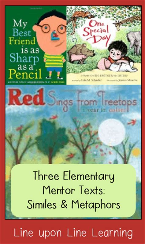 picture books with figurative language figurative language similes and metaphor line upon line