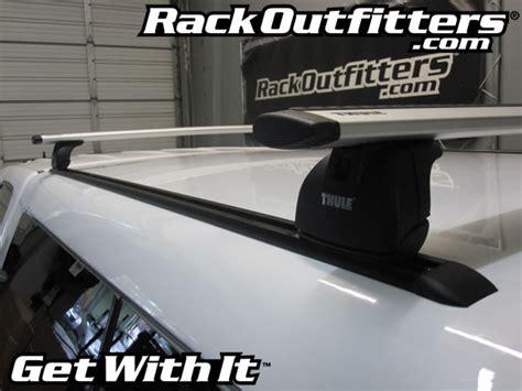 thule truck cap roof rack custom installation of thule rapid podium aeroblade roof rack on tracks for fiberglass truck cap
