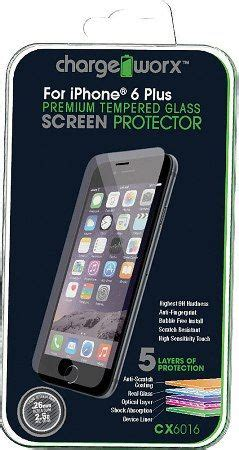 Iphone 6 9h Tempered Glass Anti Fingerprint Scratc Murah chargeworx cx6016 premium tempered glass screen protector for use with iphone 6 plus highest 9h