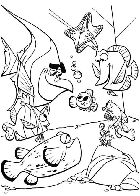 finding nemo coloring pages games finding nemo characters coloring pages gianfreda net