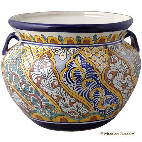 Mexican Planters Large by Mexican Tile Mexican Talavera Veracruz Large Planter