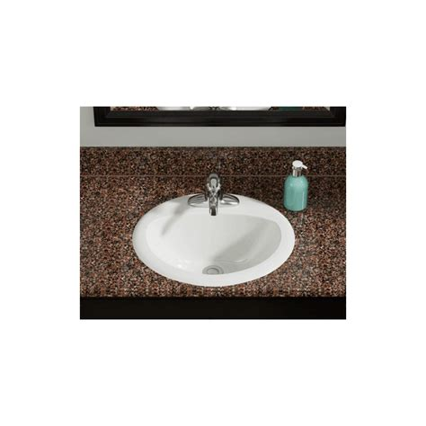 overmount bathroom sink polaris po8102b bisque overmount bathroom sink