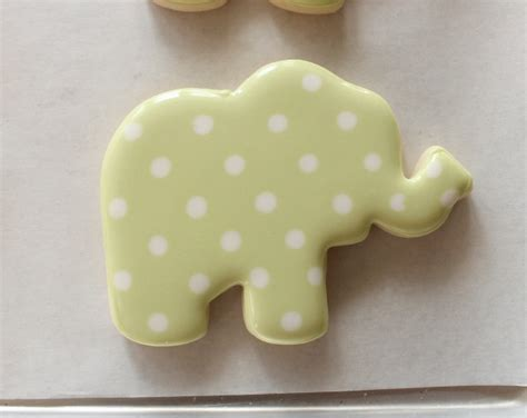 Decorated Elephant Cookies decorated elephant cookies and a baby shower the