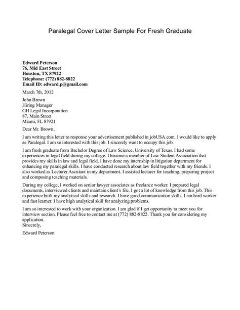 application letter for new graduate litigation paralegal resume cover letter http www