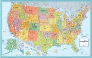 united states wall maps rand mcnally signature united states wall map poster 32x50
