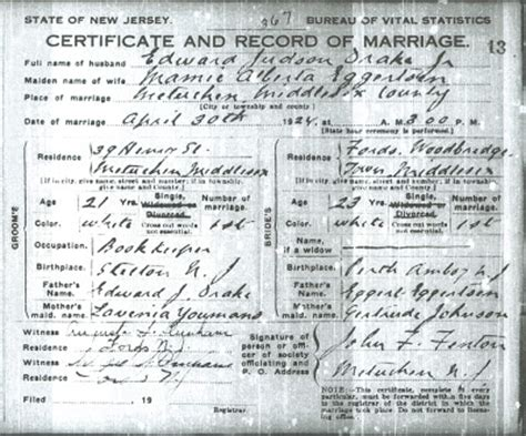 Jersey Marriage Records Family History Research By Jody Duryea New Jersey Marriages