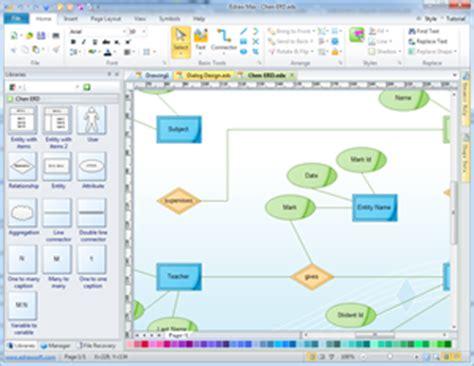 erd maker chen erd database diagram solutions