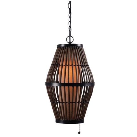Wicker Pendant Light Biscayne 1 Light 12 In Rattan Outdoor Pendant 93390rat
