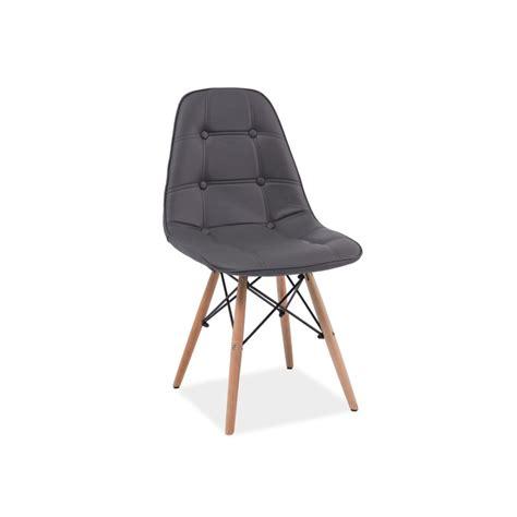 chaise simili cuir gris chaise scandinave dsw axel aspect boutonn 233 en simili cuir