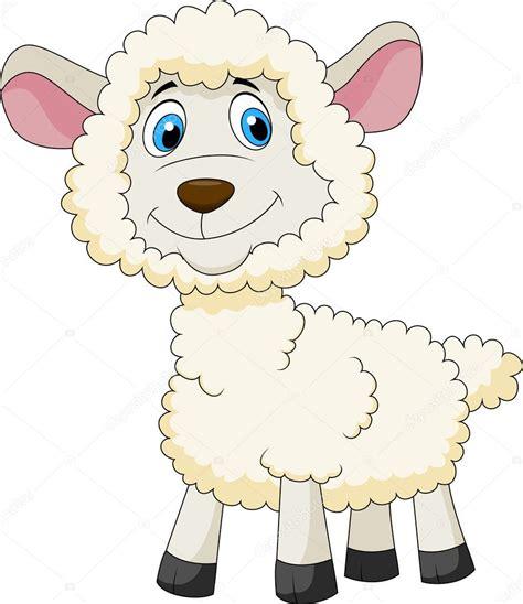 imagenes animadas ovejas dibujos animados de oveja bonita vector de stock
