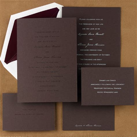 Brown Wedding Invitations by Choosing The Second Color Of Your Brown Wedding Invitations