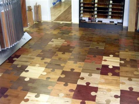 Puzzle Floor Wood by Flooring Idea Looks Like Puzzle Pieces Out Of Wood Visit Theownerbuildernetwork Unique