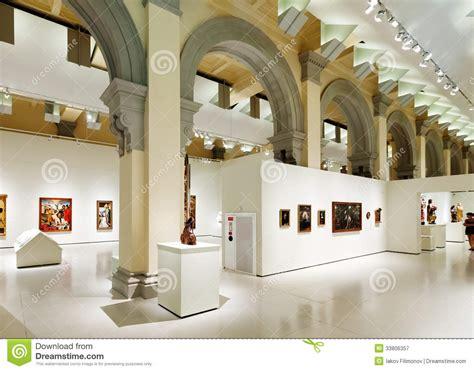 Interior Photography Singapore Interior Of National Art Museum Of Catalonia Editorial