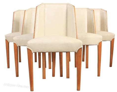 Set Of 6 Art Deco Dining Chairs Antiques Atlas Dining Chair Set Of 6