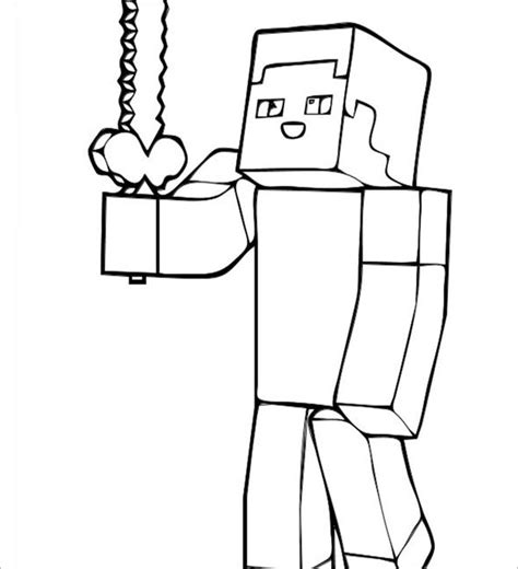 minecraft steve coloring pages free minecraft coloring pages 21 free printable word pdf