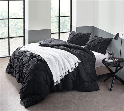 xl king comforter xl king size comforter black pin tuck