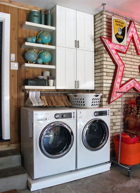 Laundry Room In Garage Decorating Ideas Remodelaholic 25 Ideas For Small Laundry Spaces