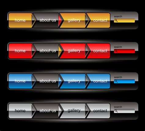 design menu buttons company website menu buttons vector collection 23 vector