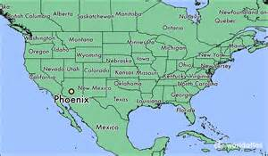 world map arizona where is az where is az located in