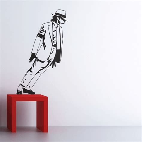 michael wall stickers michael jackson smooth criminal wall decals by couture deco