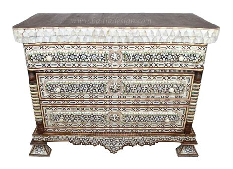 Of Pearl Dresser by Of Pearl Dresser With White Marble Top From Badia