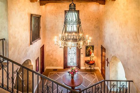 foyer table tuscan style decorating entry foyer the tuscan villa in topanga canyon