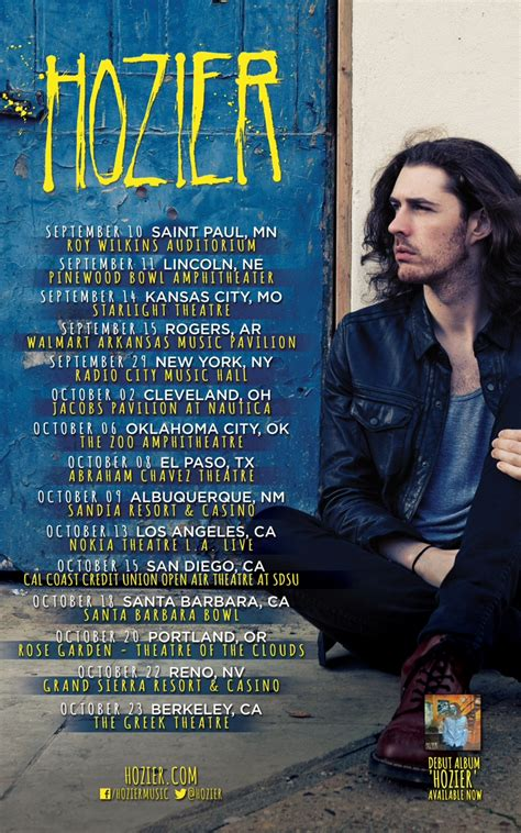 hozier us store hozier announces us fall tour