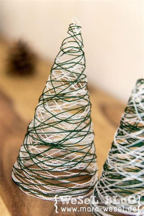 garn weihnachtsbaeume diy weihnachtsdeko handmade kultur