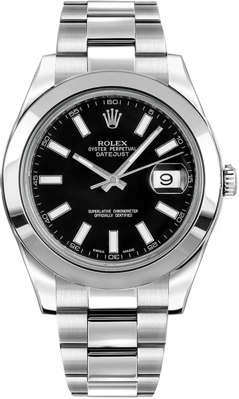 Rolex Datejust II 41 116300 Black Index Dial Mens Watch
