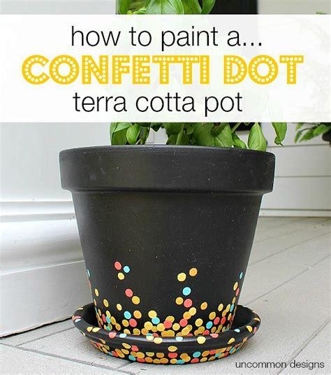pot designs painting confetti dot pots uncommon designs