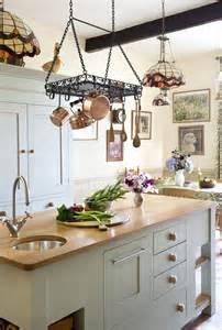 Pot And Pan Hanger Island Ceiling Mounted Pan Racks Kitchen Sourcebook