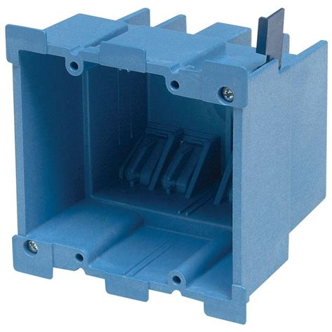 home electric box 1 18 cu in shallow new work electrical box of 6 sno18 6r the home depot
