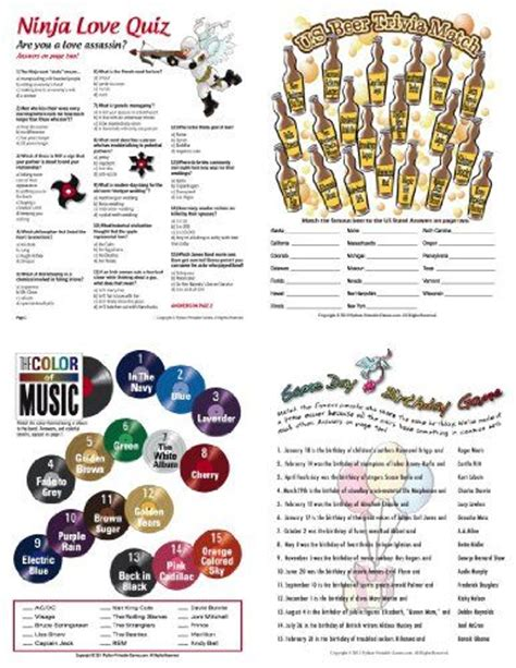 printable drinking games for adults printable birthday party games for adults fun games for