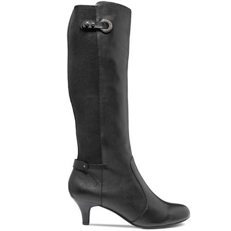 klein abebe dress stretch back boots in black lyst