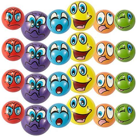 emoji zucchini set of 24 emoji face foam soft stress novelty toy balls 2