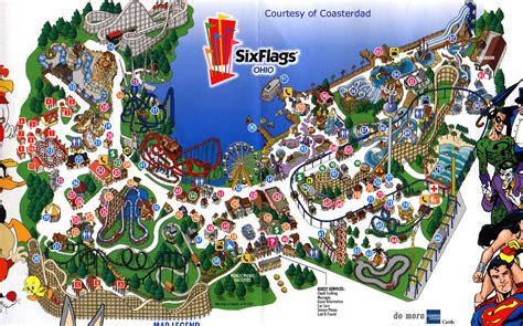map of six flags park maps