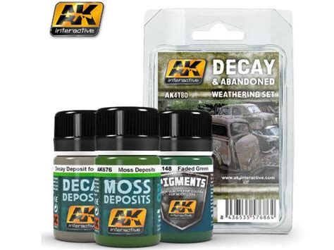 Ak675 Decay Deposits For Abandoned Vehicles ak interactive 3x 35ml 04180 decay and abandoned vehicles weathering set