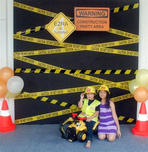 themes black diggers construction birthday party ideas parties birthdays and