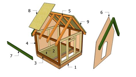 double dog house blueprints diy dog house plans