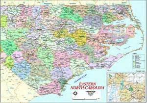 eastern carolina wall map