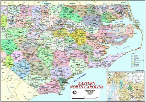 map eastern carolina eastern carolina wall map