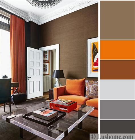 decorating with gray and brown combination 5 beautiful orange color schemes to spice up your interior design
