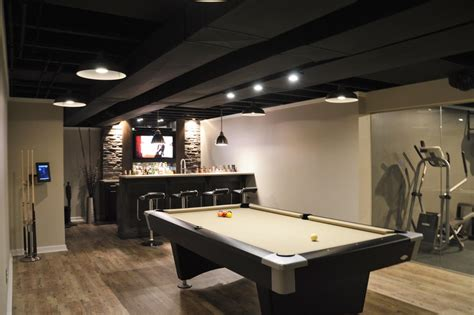 industrial basement finished basements plus design ideas photo album