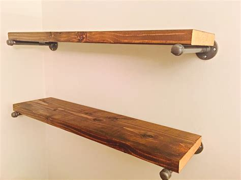 regal rustikal custom rustic wood shelf industrial shelf shelf bracket