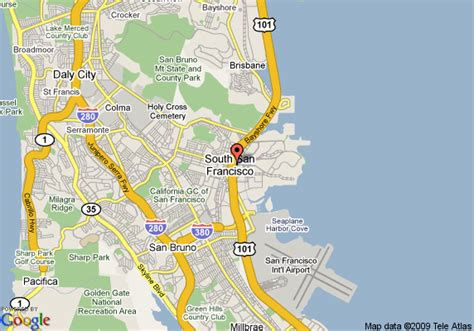 san francisco map with airport comfort suites san francisco airport south san francisco