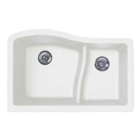Swan Granite Kitchen Sink Swanstone Quls 3322 076 Granite Large Small Undermount Bowl Kitchen Sink Granito